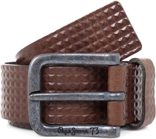 Pepe Jeans pánský hnědý kožený pásek Ike - Glami.cz 0ad355687e