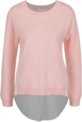 Svetloružový sveter so všitou blúzkou Apricot - Glami.sk d6a2f7bb238