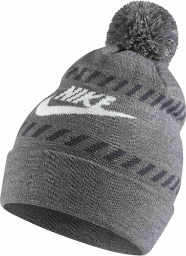 08c956d82f1 Pánská čepice Nike FUTURA POM BEANIE- RED CARBON HEATHER WHITE DARK GREY