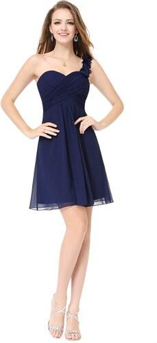 e89d4b6f3026 Ever Pretty šifonové šaty krátké tmavě modré 3535 - Glami.cz