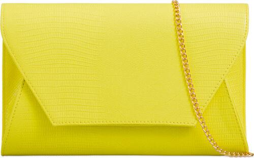 3ebfe80896a ikabelky Štýlová listová kabelka K-A822 žltá - Glami.sk