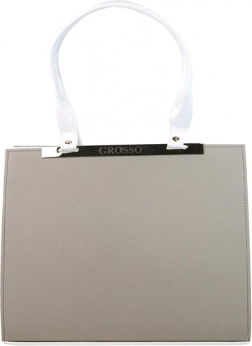 Grosso kabelky Béžovo-bílá hranatá kabelka na rameno Lana - Glami.cz 845a94b0aa8