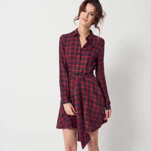 527100ff0f2e Mohito - Plisované kárované šaty - Červená - Glami.sk