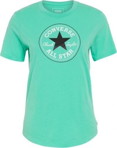 Dámske tričko Converse core solid Chuck Patch crew Zelená - Glami.sk c7498d4a9c3