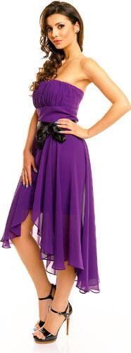 23a8a0536180 Společenské plesové šaty korzetové MAYAADI s mašlí a asymetrickou sukní  fialové