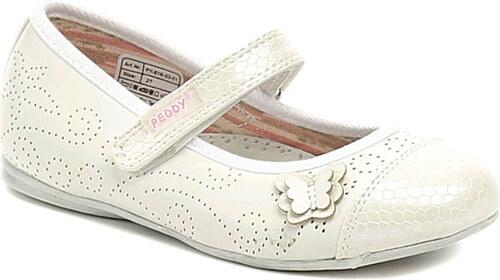 ae59c055a08 Dětská obuv Peddy PY-618-33-01 bílá perleť dívčí baleríny - Glami.cz