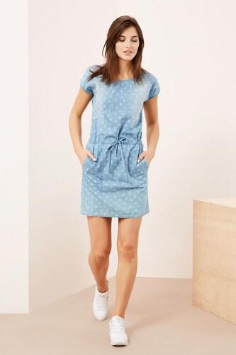 6a52eaaecc2 Moodo šaty dámské jeans s krátkým rukávem - Glami.cz