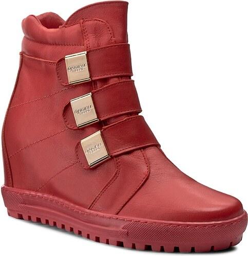 Sneakersy EKSBUT - 66-4319-G71-1G Červená - Glami.sk 39f53a9d594