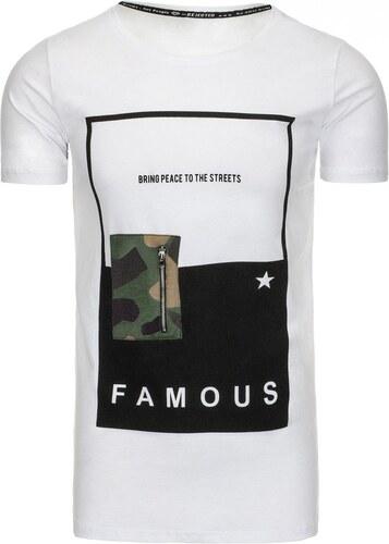 4da1c34973b0 Biele pánske tričko s potlačou - Glami.sk