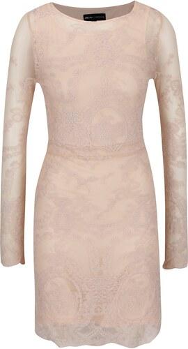 Svetloružové čipkované šaty s dlhým rukávom Mela London - Glami.sk ff64bcf35f5