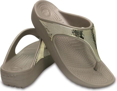 Crocs dámské žabky na klínku Sloane Embellished Platinum - Glami.cz 6f6bcd5198