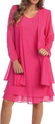 6944e5a49220 Glamor Dámske spoločenské ružové šaty na svadbu - Glami.sk