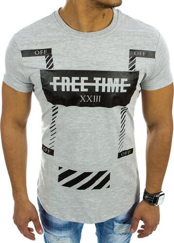 4af049e8d9f7 Šedé tričko s nápisom (rx2105) odtiene farieb  šedá - Glami.sk