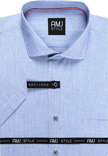 fc608dcd274 AMJ pánská košile světle modrá proužkovaná VKR897