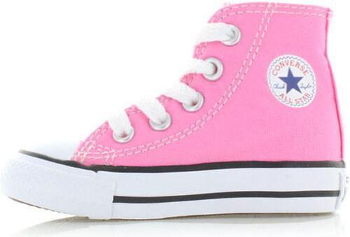6f6103bf5 Converse Dětské růžové vysoké tenisky Chuck Taylor All Star Kids ...