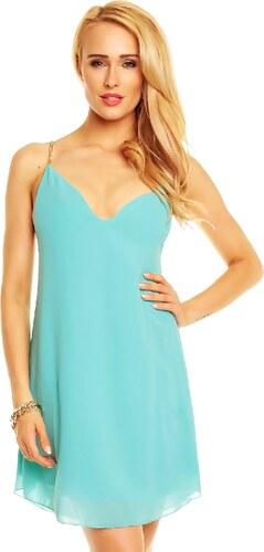 Tyrkysové letní šaty Ethina by C - Glami.cz 52d3d12d92
