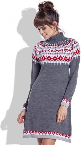 Zimní šaty Fobya F346 tmavě šedé - Glami.cz 58a3c1719c