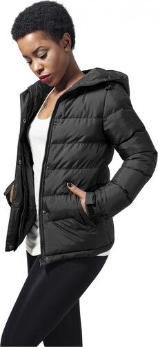 Dámska bunda URBAN CLASSICS LADIES BUBBLE JACKET BLACK - Glami.sk 69fcf73550