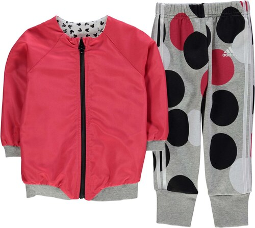 Adidas Three Stripe Jogger Tracksuit Infant Girls Pink - Glami.sk d1f37bda14c