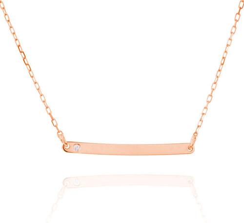 6edab99fe Eppi Jemný zlatý náhrdelník s diamantom Charena - Glami.sk