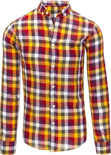 6359cbcb35f0 Pánska košeľa s dlhým rukávom (dx1312) odtiene farieb  farebná ...