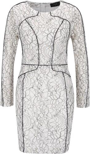Černo-krémové šaty s dlouhým rukávem AX Paris - Glami.cz 46851dca08