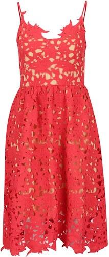 Červené krajkové šaty VERO MODA Beauti - Glami.cz e38cf24792