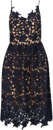 Tmavě modré krajkové šaty VERO MODA Beauti - Glami.cz 95b2de6ad2