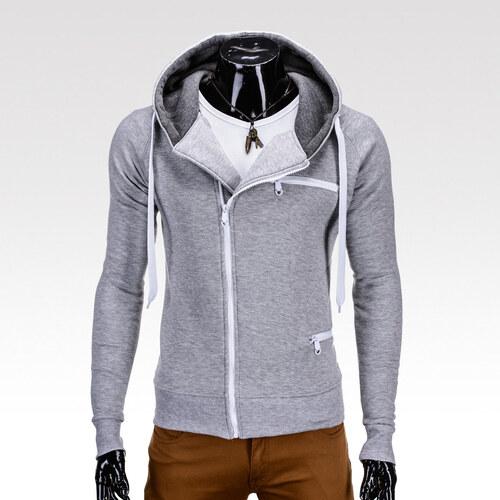 Ombre Clothing Pánská mikina Troy šedá - Glami.cz 9598c28582
