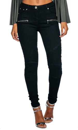 PARISIAN Dámské jeans s vysokým pasem - černé Barva  černá - Glami.cz 710d1bcfbb