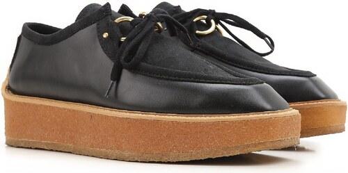 chaussures lacets compens e stella mccartney noir. Black Bedroom Furniture Sets. Home Design Ideas