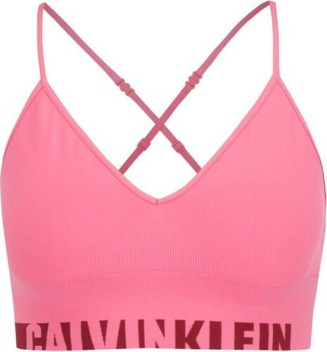 b97d8933fd2 Růžová sportovní podprsenka Calvin Klein - Glami.cz