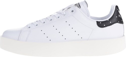 Bílé dámské kožené tenisky na platformě adidas Originals Stan Smith ... e11a886e7d