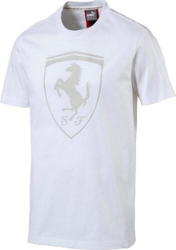 Pánské tričko Puma Ferrari Big Shield Tee Wh bílé - Glami.sk aef889986ad