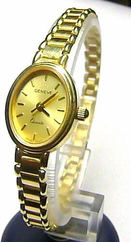 f90d9c43a70 Luxusní společenské dámské švýcarské zlaté hodinky GENEVE 585 19 ...
