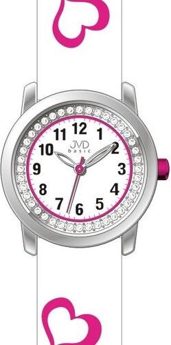 9574bb7e4fb Bílé dětské dívčí holčičí hodinky JVD basic J7119.2 se srdíčky ...