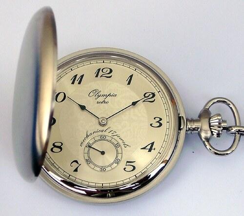 6c866ef556f Luxusní mechanické Olympia kapesní hodinky 35031 s ručním natahováním