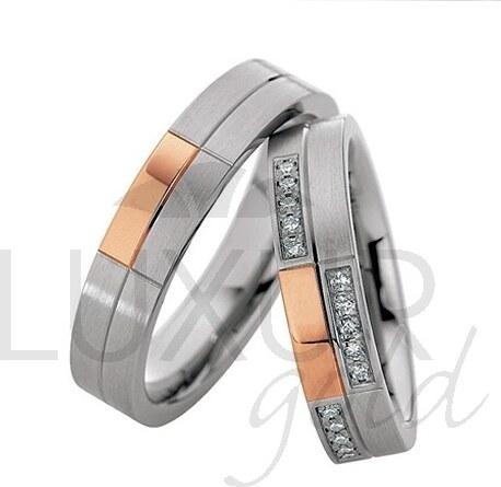 Pretis Luxusni Snubni Prsteny Cerveno Bile Zlato 436 500 501 4