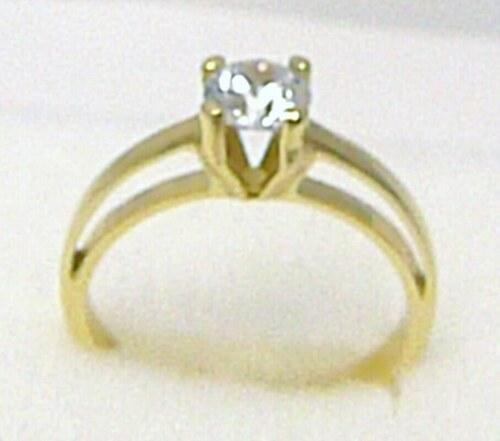 574622e2b Pretis Zásnubní luxusní mohutný zlatý prsten s velkým zirkonem 585/2,9 gr  vel