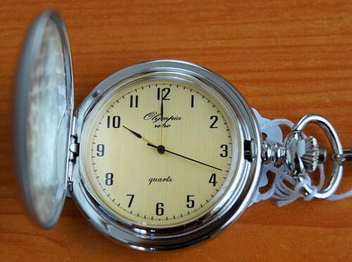 Luxusní stříbrné kapesní hodinky Olympia 30421 na řetízku - retro ... b85c785b6d