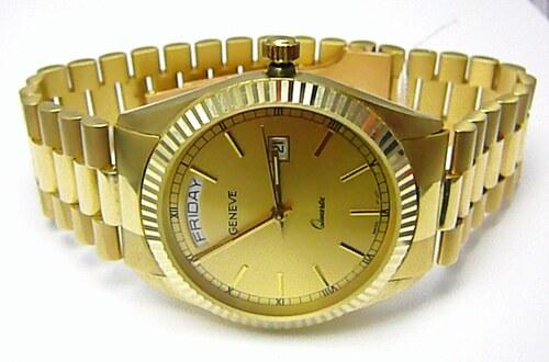Luxusní elegantní pánské zlaté švýcarské hodinky 585 77 4a6b1c7a6d6