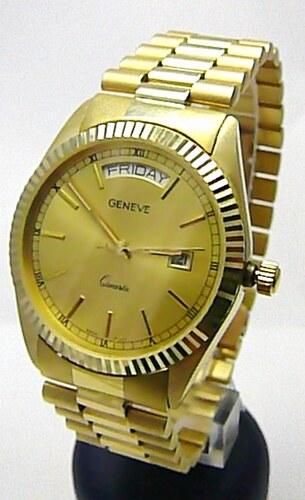 Luxusní elegantní pánské zlaté švýcarské hodinky 585 77 8a232d67e9