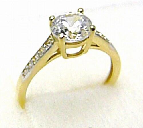 31a070b4a Jaroslav Holan Mohutný zásnubní zlatý prsten se zirkony 11 ks 585/1,82 gr