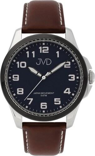 f6b38149753 Pánské luxusní náramkové hodinky JVD J1110.2 na koženém pásku - Glami.cz