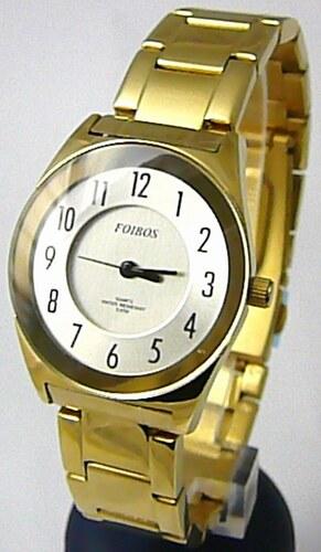 c6a9febd991 Dámské ocelové zlaté voděodolné kovové hodinky Foibos 23121 - 5ATM ...