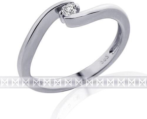 Pretis Zásnubní diamantový prsten s diamantem 1ks 0 52e1db46660