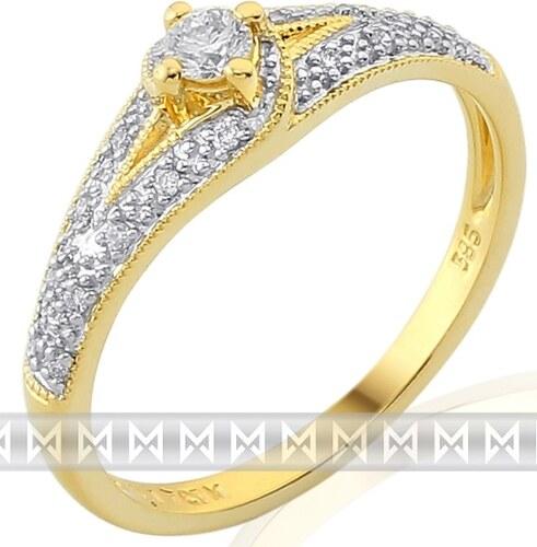 Pretis Luxusní zásnubní zlatý diamantový prsten posetý pravými brilianty  3811841 POŠTOVNÉ ZDARMA! d3f75ba4a05