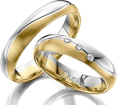 Pretis Varadero Snubni Prsteny Kombinace Zlute A Bile Zlato C 4 Wn 2