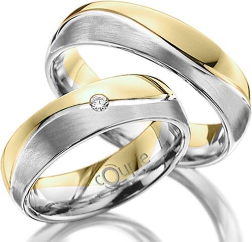 Pretis Varadero Snubni Prsteny Kombinace Bile Zlute Zlato Mat C 5