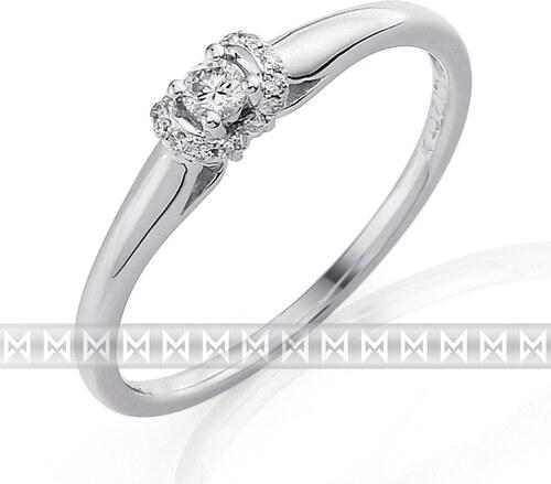 Pretis Luxusní zásnubní diamantový prsten z bílého zlata 17 0 a31021beacb